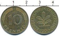 Изображение Дешевые монеты Германия 10 пфеннигов 1990 Латунь XF