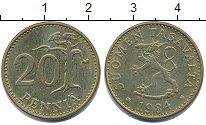 Изображение Дешевые монеты Финляндия 20 пенсов 1984 Латунь-сталь XF-