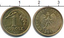 Изображение Барахолка Польша 1 грош 2012 Латунь-сталь VF