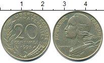 Изображение Дешевые монеты Франция 20 сентим 1993 Латунь XF