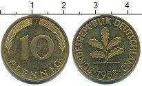 Изображение Дешевые монеты Германия 10 пфеннигов 1988 Латунь-сталь XF