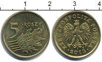 Изображение Барахолка Польша 5 грошей 2013 Латунь-сталь XF+