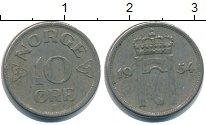Изображение Дешевые монеты Норвегия 10 эре 1954 Медно-никель XF-