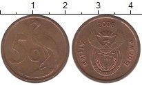 Изображение Барахолка ЮАР 5 центов 2006 Медь