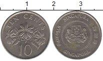 Изображение Барахолка Сингапур 10 центов 1965 Медно-никель XF-