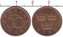 Изображение Дешевые монеты Швеция 50 эре 1992 Медь XF