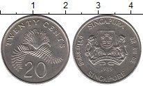 Изображение Барахолка Сингапур 20 центов 1989 Медно-никель XF
