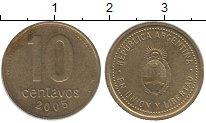 Изображение Барахолка Аргентина 10 сентаво 2005 Латунь XF-