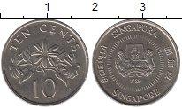 Изображение Дешевые монеты Сингапур 10 центов 1989 Медно-никель XF+