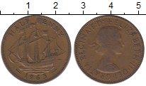 Изображение Барахолка Великобритания 1/2 пенни 1963 Медь XF-