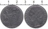 Изображение Дешевые монеты Италия 100 лир 1979 Медно-никель XF-