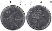 Изображение Дешевые монеты Италия 50 лир 1986 Медно-никель XF