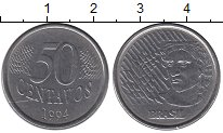 Изображение Дешевые монеты Бразилия 50 сентаво 1994