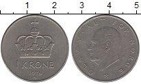 Изображение Дешевые монеты Норвегия 1 крона 1976 Медно-никель XF