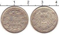 Изображение Монеты Германия 1/2 марки 1918 Серебро XF-