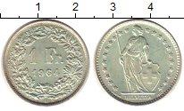 Изображение Монеты Швейцария 1 франк 1964 Серебро XF