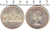 Изображение Монеты Канада 1 доллар 1963 Серебро UNC-