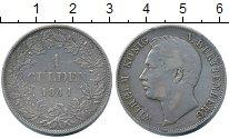 Изображение Монеты Германия Вюртемберг 1 гульден 1841 Серебро XF-