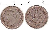 Изображение Монеты Франция 20 сентим 1868 Серебро XF
