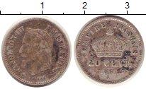 Изображение Монеты Франция 20 сентим 1867 Серебро VF