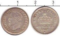 Изображение Монеты Франция 20 сентим 1867 Серебро XF