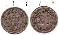 Изображение Монеты Италия 20 сентесим 1894 Медно-никель VF
