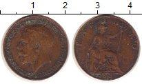 Изображение Монеты Великобритания 1 фартинг 1914 Медь VF