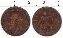 Изображение Монеты Великобритания 1 фартинг 1920 Медь VF Георг V