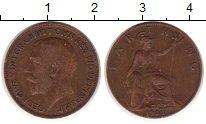 Изображение Монеты Великобритания 1 фартинг 1922 Медь XF
