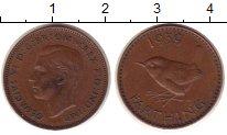 Изображение Монеты Великобритания 1 фартинг 1939 Медь XF
