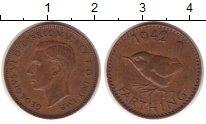 Изображение Монеты Великобритания 1 фартинг 1942 Медь XF