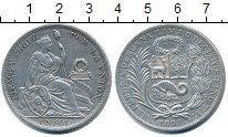 Изображение Монеты Перу 1 соль 1894 Серебро XF Лима