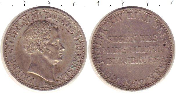 Картинка Монеты Пруссия 1 талер Серебро 1832