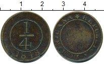 Изображение Монеты Доминиканская республика 1/4 реала 1848 Медь XF-
