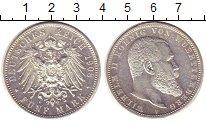 Изображение Монеты Вюртемберг 5 марок 1908 Серебро XF