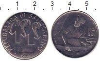 Изображение Монеты Сан-Марино 100 лир 1972 Сталь UNC-