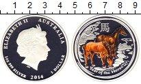 Изображение Монеты Австралия 1 доллар 2014 Серебро Proof Год лошади