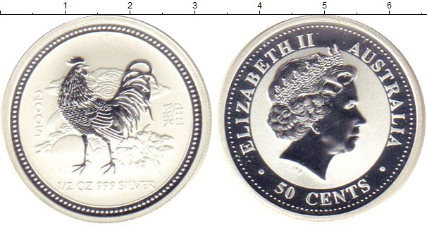 Картинка Монеты Австралия 50 центов Серебро 2005