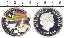 Изображение Монеты Австралия 1 доллар 2006 Серебро Proof- Цифровая  печать.  Е
