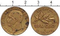 Изображение Монеты Албания 0,10 лек 1940 Латунь XF-