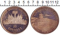 Изображение Монеты Гаити 25 гурдес 1971 Серебро XF
