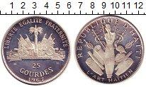 Изображение Монеты Гаити 25 гурдес 1967 Серебро XF