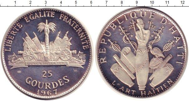 Картинка Монеты Гаити 25 гурдес Серебро 1967