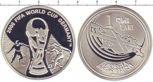 Картинка Монеты Грузия 1 лари Серебро 2004