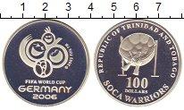 Изображение Монеты Тринидад и Тобаго 100 долларов 2002 Серебро Proof-
