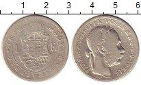 Изображение Монеты Венгрия 1 форинт 1892 Серебро VF