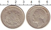 Изображение Монеты Швеция 2 кроны 1876 Серебро VF Оскар II
