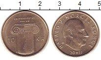 Изображение Монеты Норвегия 10 крон 2011 Латунь UNC-
