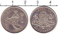 Изображение Монеты Латвия 1 лат 2008 Медно-никель UNC- Трубочист