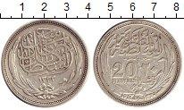 Изображение Монеты Египет 20 пиастров 1916 Серебро XF-